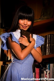 blue get-up asian brunette