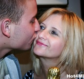 Cheerful blonde housewife with short hair gets fucked