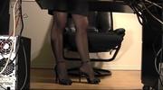 high heeled chick black