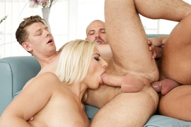 bisexual, blonde, friend, huge cock