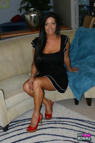 black haired milf dress