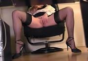 high heeled office lass