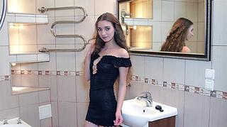 small tits teen brunette
