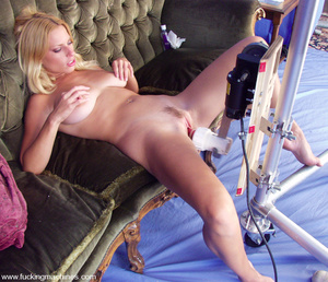 Hairy pussy blonde fucked by a machine o - XXX Dessert - Picture 8
