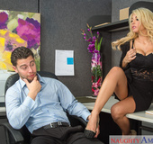 Black get-up blonde secretary fucking her hung coworker