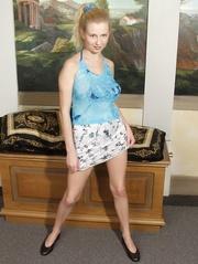 european blonde teen shows
