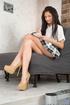 checkered skirt brunette schoolgirl