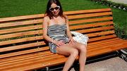 high heeled brunette sunglasses