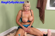 sexy blonde whore wearing