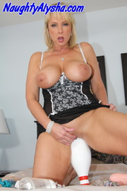 feisty blonde whore wearing