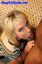 blonde temptress wearing colorful