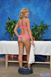 kinky blonde teen pink