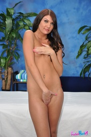 sweet brunette chick red