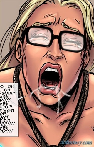 shocking torture glasses-wearing blonde