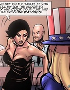 Uncle Sam get-up busty blonde humiliated in public. A Tale Of Chinese