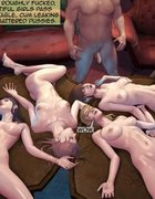 Group rape scene with four lusty slave girls. Brutal Earl Part 2 By Feather