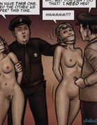 Slave auction featuring some hick and a cop. Enslaved Without A Cause