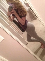 tight pants brunette shows