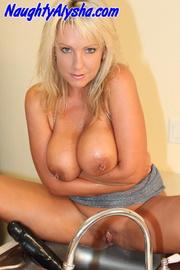 funky blonde slut wearing