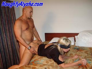 playful blonde huge tits