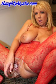 awesome blonde with huge