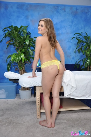 Brown haired hottie in yellow lingerie e - XXX Dessert - Picture 5