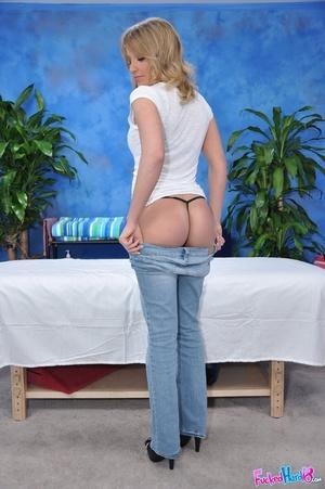 Slim blonde in black g-string gets more  - XXX Dessert - Picture 2