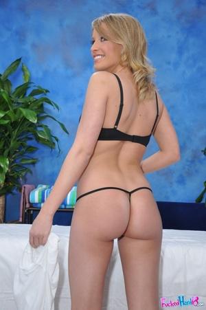 Slim blonde in black g-string gets more  - XXX Dessert - Picture 5