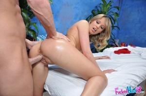 Slim blonde in black g-string gets more  - XXX Dessert - Picture 15