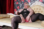 black lingerie dressed plumper
