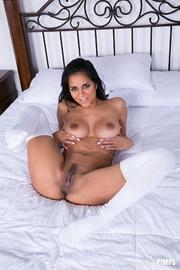 white stockings angelic brunette