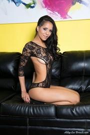 black high heels brunette