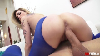 stunning blonde cock inserted