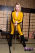 Beatrix kiddo has never looked so good as this blonde shows off a kill