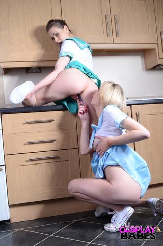 pulling strap-on skirt face