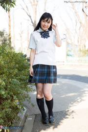 japanese schoolgirl raises her