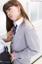 asian schoolgirl gives her