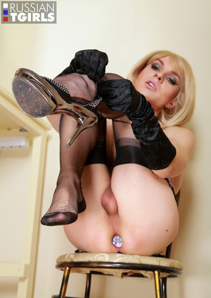 The sweetest Russian trap in stockings demonstrates a cock - XXXonXXX - Pic 11