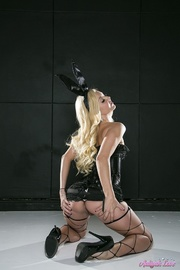bunny ears blonde trying