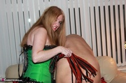 big boobed redhead green