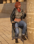 Egyptian monster drills a big-boobed redhead beauty
