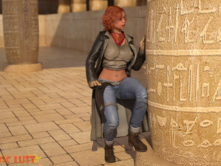 Egyptian monster drills a big-boobed redhead beauty - Picture 1