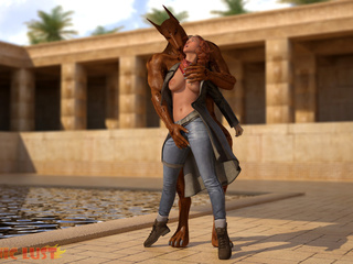 Egyptian monster drills a big-boobed redhead beauty - Picture 4
