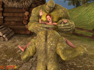 Green giants are cumming on the face of a glamour - Picture 4