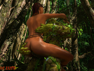 Slender brunette gets hardly impaled by the tree - Picture 6