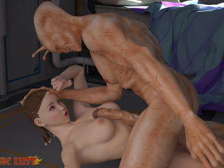 Filthy alien with long snake bangs with a busty - Picture 3