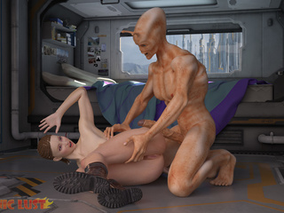 Muscled alien impaled a dick-swallowing female - Picture 2