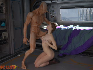Muscled alien impaled a dick-swallowing female - Picture 6