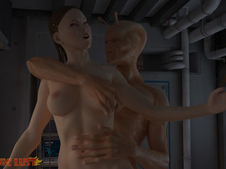 Brutal sex on the starship with a hot busty brunette - Picture 3