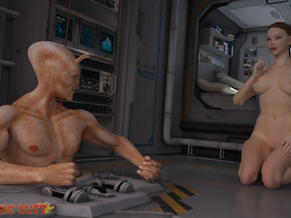 Brutal sex on the starship with a hot busty brunette - Picture 6